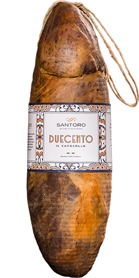 Large image of the Santoro Capocollo Duecento with frontal label.