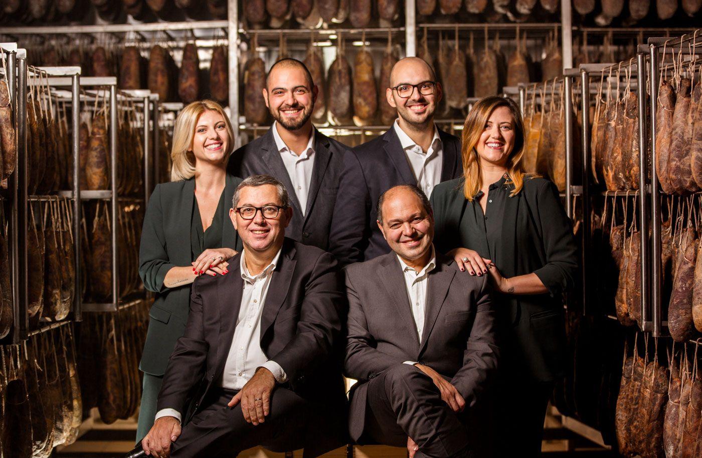 ritratto dei proprietari e fondatori del Salumificio Santoro