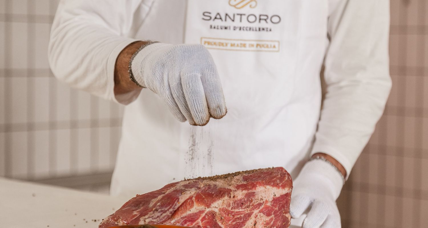 salting of the meat during the making of Santoro's salami