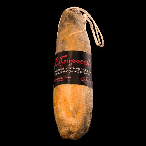 Whole Santoro Es capocollo with front positioned label